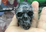 CDN556 35*50*40mm skull black labradorite decorations wholesale