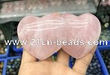 CDN591 50*90mm double heart rose quartz decorations wholesale