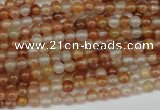 CDQ45 15.5 inches 4mm round natural red quartz beads wholesale