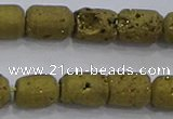 CDQ601 8 inches 6*8mm drum druzy quartz beads wholesale