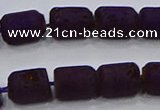 CDQ611 8 inches 6*8mm drum druzy quartz beads wholesale