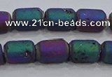 CDQ614 8 inches 6*8mm drum druzy quartz beads wholesale