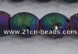 CDQ627 8 inches 10*12mm rice druzy quartz beads wholesale