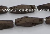 CDQ650 8 inches 8*20mm - 10*30mm freeform druzy quartz beads