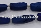 CDQ653 8 inches 8*20mm - 10*30mm freeform druzy quartz beads