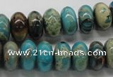 CDS09 16 inches 7*14mm rondelle dyed serpentine jasper beads wholesale