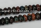 CDS196 15.5 inches 6*10mm rondelle dyed serpentine jasper beads
