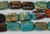 CDS40 15.5 inches 10*14mm rectangle dyed serpentine jasper beads