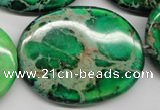 CDT188 15.5 inches 30*40mm oval dyed aqua terra jasper beads
