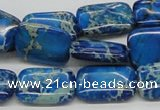 CDT55 15.5 inches 13*18mm rectangle dyed aqua terra jasper beads