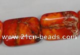 CDT556 15.5 inches 18*25mm rectangle dyed aqua terra jasper beads