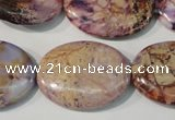 CDT712 15.5 inches 22*30mm oval dyed aqua terra jasper beads