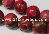 CDT763 15.5 inches 16mm round dyed aqua terra jasper beads