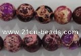 CDT834 15.5 inches 12mm round dyed aqua terra jasper beads wholesale