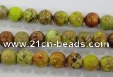 CDT862 15.5 inches 8mm round dyed aqua terra jasper beads wholesale