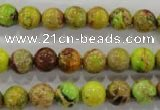 CDT864 15.5 inches 12mm round dyed aqua terra jasper beads wholesale