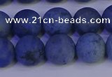 CDU304 15.5 inches 12mm round matte blue dumortierite beads