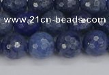 CDU324 15.5 inches 8mm faceted round blue dumortierite beads