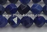 CDU338 15.5 inches 10mm faceted nuggets blue dumortierite beads