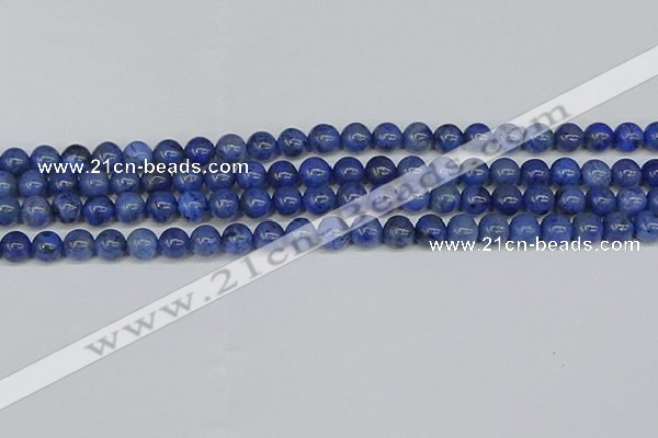CDU341 15.5 inches 6mm round blue dumortierite beads wholesale