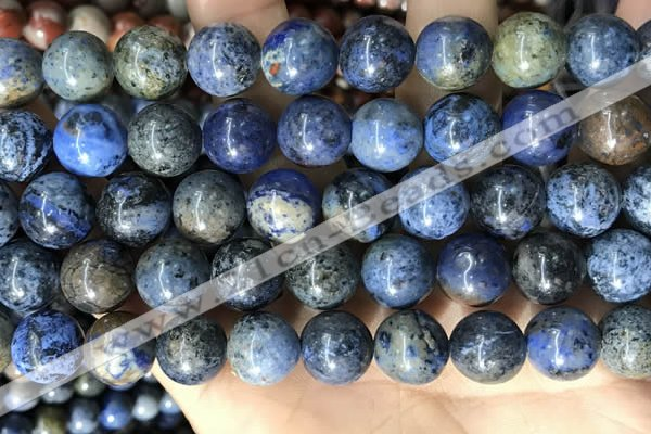 CDU364 15.5 inches 12mm round sunset dumortierite beads wholesale