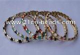 CEB02 5pcs 7mm width gold plated alloy with enamel bangles wholesale