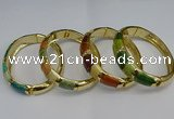 CEB121 16mm width gold plated alloy with enamel bangles wholesale