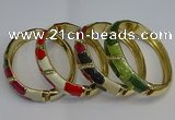 CEB122 16mm width gold plated alloy with enamel bangles wholesale