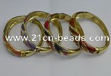 CEB126 16mm width gold plated alloy with enamel bangles wholesale