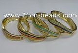 CEB130 17mm width gold plated alloy with enamel bangles wholesale