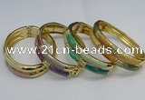 CEB133 16mm width gold plated alloy with enamel bangles wholesale