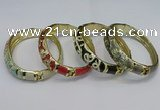 CEB134 16mm width gold plated alloy with enamel bangles wholesale