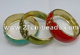 CEB138 28mm width gold plated alloy with enamel bangles wholesale
