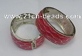 CEB139 25mm width gold plated alloy with enamel bangles wholesale
