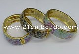 CEB141 20mm width gold plated alloy with enamel bangles wholesale