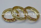 CEB143 18mm width gold plated alloy with enamel bangles wholesale