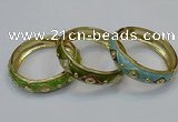 CEB144 18mm width gold plated alloy with enamel bangles wholesale