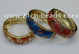 CEB145 19mm width gold plated alloy with enamel bangles wholesale