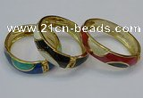CEB148 15mm width gold plated alloy with enamel bangles wholesale