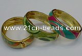 CEB149 18mm width gold plated alloy with enamel bangles wholesale