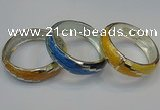CEB150 19mm width silver plated alloy with enamel bangles wholesale