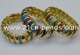CEB155 20mm width gold plated alloy with enamel bangles wholesale
