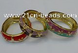 CEB156 19mm width gold plated alloy with enamel bangles wholesale