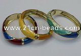 CEB160 17mm width gold plated alloy with enamel bangles wholesale