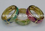 CEB168 20mm width gold plated alloy with enamel bangles wholesale