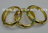 CEB169 17mm width gold plated alloy with enamel bangles wholesale
