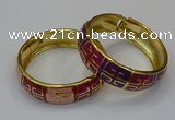 CEB171 18mm width gold plated alloy with enamel bangles wholesale