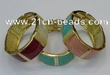 CEB173 22mm width gold plated alloy with enamel bangles wholesale