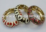 CEB177 20mm width gold plated alloy with enamel bangles wholesale