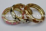 CEB179 17mm width gold plated alloy with enamel bangles wholesale